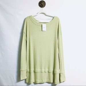 Free People North Shore Thermal Knit Tunic